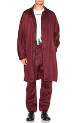 3.1 Phillip Lim Unconstructed Trench Coat In Red