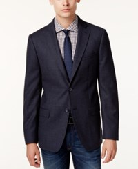 Dkny Men's Extra Slim Fit Blue Micro Dot Sport Coat