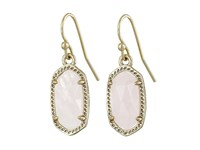 Kendra Scott Lee Earring Gold Rose Quartz Earring