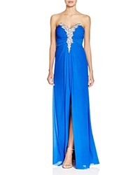 Decode 1.8 Embellished Strapless Gown Royal