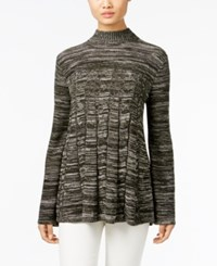 Styleandco. Style Co. Petite Mock Neck Cable Knit Swing Sweater Only At Macy's Dark Ivy Combo