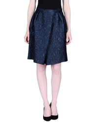 Charlott Skirts Knee Length Skirts Women Dark Blue