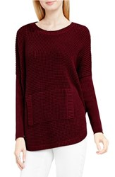 Vince Camuto Women's Two By Waffle Knit Pocket Sweater