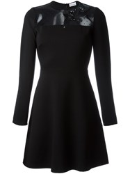 Red Valentino Sequin Swallow Detail Dress Black