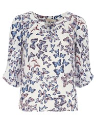 Dorothy Perkins Butterfly Trim Blouse Multi Coloured