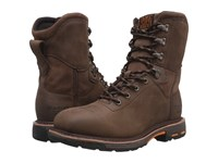 Ariat Workhog 8 Wide Square Toe H2o Oily Distressed Brown Men's Work Lace Up Boots Tan