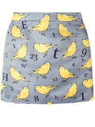 Au Jour Le Jour Bird Print Skirt Grey