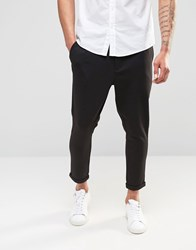 Only And Sons Only And Sons Jersey Cropped Chino Black