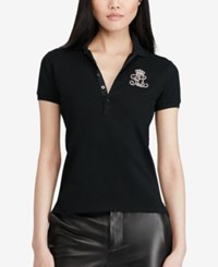 Polo Ralph Lauren Patched Mesh Polo Black