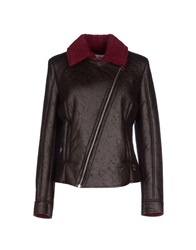 Maison Espin Jackets Dark Brown