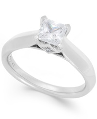 Macy's Certified Diamond Solitaire Engagement Ring In 14K White Gold 1 Ct. T.W.
