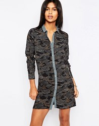 Pepe Jeans Jean Ilford Camo Print Shirt Dress 0Aamulti