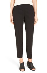 Eileen Fisher Petite Women's Woven Slim Leg Ankle Pants Black