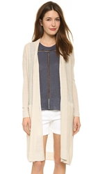 Vince Long Belted Cardigan Linen
