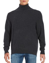 Black Brown Turtleneck Cashmere Sweater Coal Grey