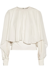 Antonio Berardi Draped Silk Crepe De Chine Top