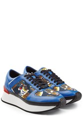 Kenzo Platform Leather Sneakers Blue