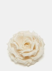Gucci Silk Rose Brooch White