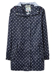 Joules Right As Rain Golightly Pack Away Waterproof Parka Navy Spot