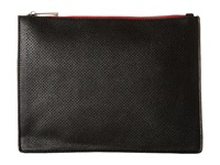 Mighty Purse Vegan Leather Three Tone Charging Clutch Black White Red Fold Clutch Handbags