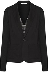 Bailey 44 Layered Paneled Ponte Blazer Black