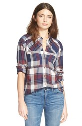 Women's Ace Delivery Plaid Shirt Blue Burgundy