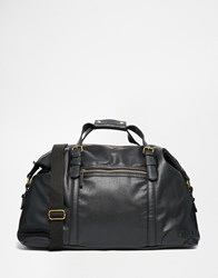 New Look Faux Leather Holdall Black
