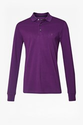 French Connection Men's Aw16 Brunswick Long Sleeve Polo Shirt Purple