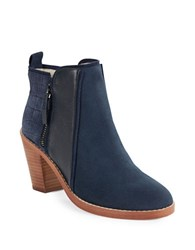 Matt Bernson Holt Suede And Leather Ankle Boots Deep Ocean Blue