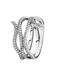 Pandora Design Pandora Ring Sterling Silver And Cubic Zirconia Swirling Snake