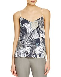 French Connection Lala Tropical Print Camisole Top Summer White Multi