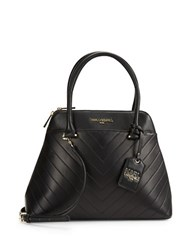 Karl Lagerfeld Gigi Leather Dome Satchel Black