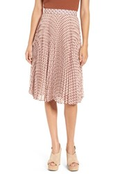 Wayf Women's 'Scout' Mosaic Print Pleated Skirt