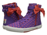 I Heart Ugg Hi Top Kiss Hearts Canvas Women's Lace Up Casual Shoes Purple
