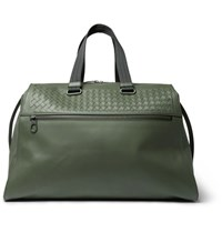 Bottega Veneta Intrecciato Leather Holdall Green