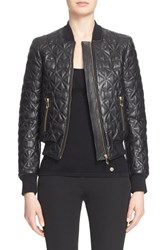 Women's Versace Collection Quilted Leather Bomber Jacket
