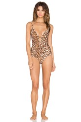 Zimmermann Alchemy High One Piece Swimsuit Brown