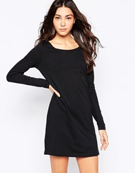 Jdy Long Sleeve T Shirt Dress Black