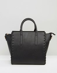 Asos Whipstitch Tote Bag Black