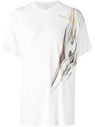 Y Project Reflection Side Print T Shirt White