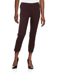 Lord And Taylor Kelly Jacquard Ankle Pants Eggplant