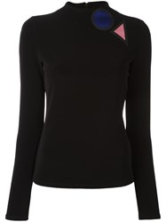 Emporio Armani Patch Detail Jumper Black