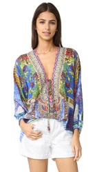 Camilla Lace Up Shirt Bohemian Bounty