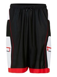 Topman Nasir Mazhar X Black And Red Track Shorts