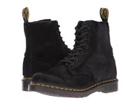 Dr. Martens Pascal Hair 8 Eye Boot Black Horsey Long Hair Women's Lace Up Boots