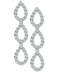 Giani Bernini Cubic Zirconia Pave Triple Drop Earrings In Sterling Silver Only At Macy's