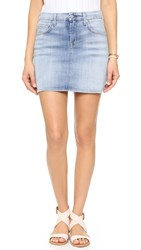 7 For All Mankind Miniskirt Santorini Light Aqua