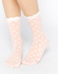 Emilio Cavallini All Over Small Bouquet Ankle Socks Pink