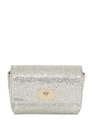 Jimmy Choo Ruby Glitter And Net Lace Shoulder Bag