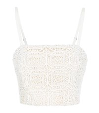 Alice Olivia Brentley Cropped Lace Bustier Female Beige